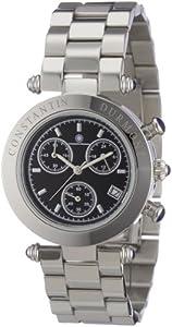 Constantin Durmont Damen-Armbanduhr Visage CD-VISL-QZ-ST-STST-BK
