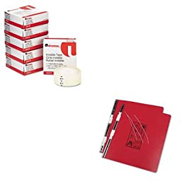KITUNV15443UNV83410 - Value Kit - Universal Pressboard Hanging Data Binder (UNV15443) and Universal Invisible Tape (UNV83410)