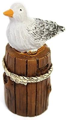 "Ganz Collectible Fairy Garden 2"" Seagull on Piling Figurine"