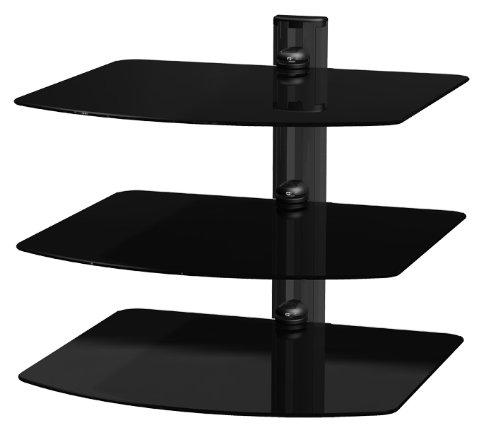 AVF NXS300PB-A Premium AV Component Shelving System (Black)