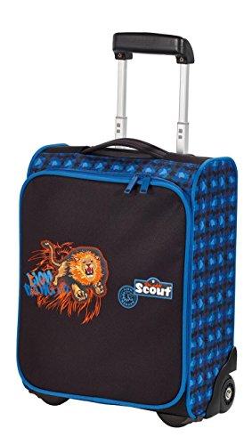 Scout Basic Kindertrolley II Koffer, 21 Liter, Schwarz/Blau
