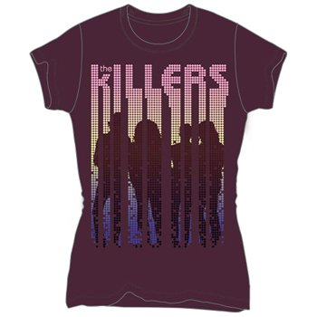 The Killers 'Silhouettes' Women's / Juniors purple lightweight t-shirt (Medium-Juniors)