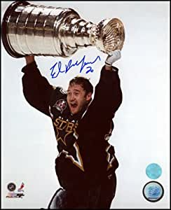 Ed Belfour Signed Stars Stanley Cup 16x20 Photo