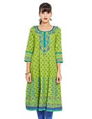 LOVELY LADY Ladies Cotton Solid KURTI - B00ZCCCHRA