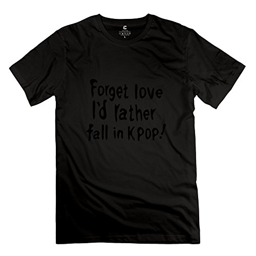 Chadlavigne 100% Cotton Men'S Forget Love Id Rather Fall Kpop T-Shirt