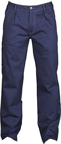 Pantalone da Lavoro 100% Cotone Invernale Con Passanti e Elastico Payper Navajo, Colore: Navy, Taglia: M