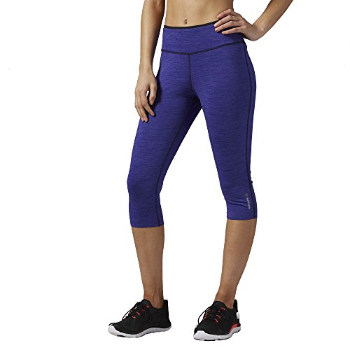 Reebok Women's Workout Ready Reversible Capri Pants, Medium, Ultima Purple F14-R/ Pigment Purple F16-R (Reebok Running Gear compare prices)
