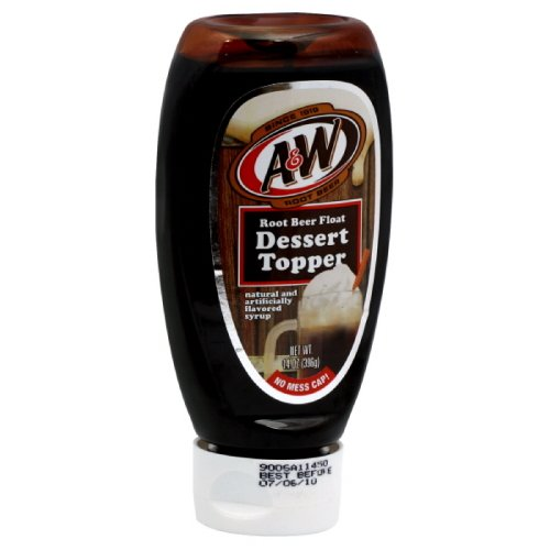 A & W Root Beer Float  Dessert Topper, 14-Ounce (Pack of 4)
