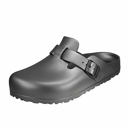 Birkenstock Boston Eva, Zoccoli Donna, Grey (Metallic Anthracite), 41 EU