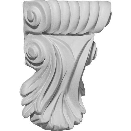 Ekena Millwork COR03X01X05SC 3 7/8-Inch W x 1 1/4-Inch D x 5 1/4-Inch H Scroll Leaf Corbel