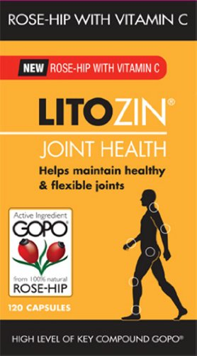 Litozin Joint Health Capsules 100% Natural Rose Hip with Vitamin C - 120 Capsules