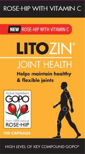 Litozin Joint Health Capsules 100% Natural Rose Hip with Vitamin C - 120 Capsules