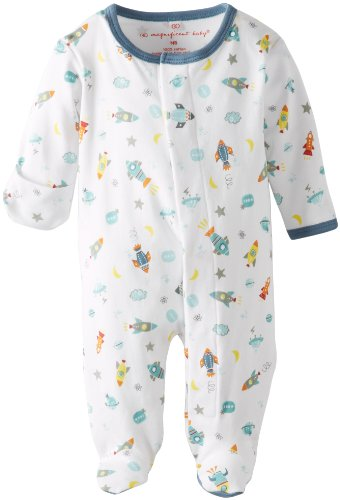 Magnificent Baby Baby-Boys Newborn Footie, Rockets, 9 Months front-446957