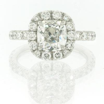 2.79ct Antique Cushion Brilliant Diamond Engagement