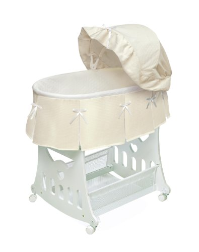 Badger Basket Portable Bassinet N Cradle With Toybox Base, Ecru front-908987