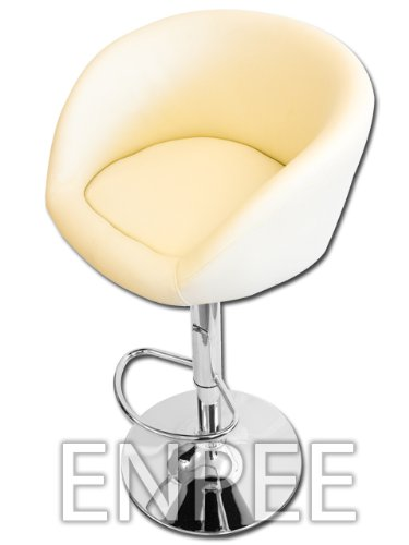 Cream Faux Leather Bar/Kitchen Stool With Chrome Base
