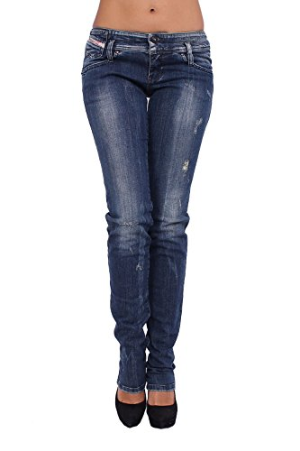 DIESEL - Jeans Donna MATIC 880C - Slim - Tapered - Stretch - blu, W29 / L34