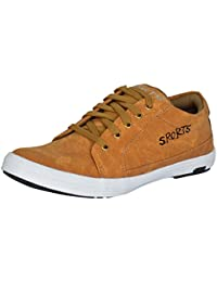 Shoes T20 Tan Synthetic Leather Casual Shoes For Men
