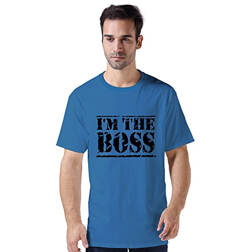 Im Boss T-Shirt Cotton For Adult Royal Blue front-915280