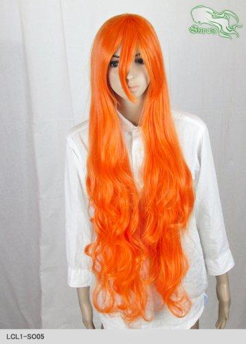 スキップウィッグ 魅せる シャープ 小顔に特化したコスプレアレンジウィッグ ドーリィロング ネオンオレンジ