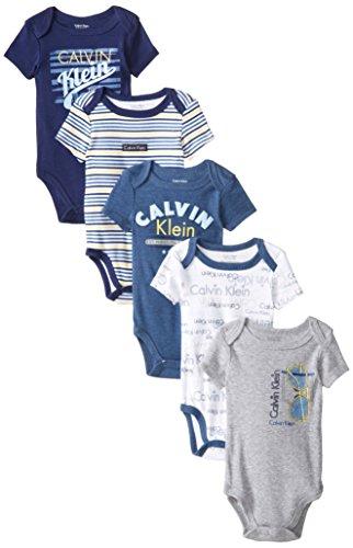Calvin Klein Baby-Boys Newborn 5 Pack Bodysuits