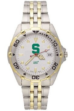 Ncaa Michigan State Spartans All Star Watch Stainless Steel Bracelet
