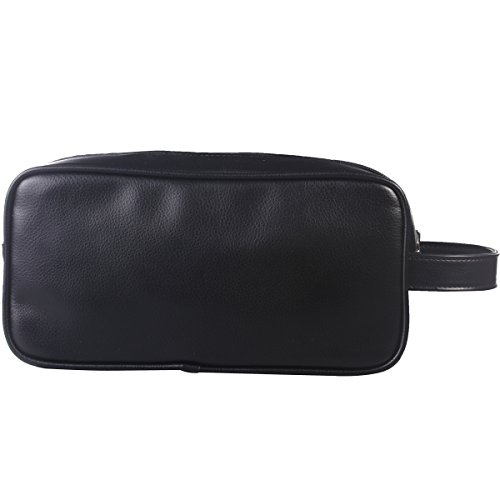 happydavid pu leather travel toiletry bags