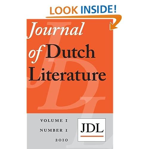 Journal of Dutch Literature 2010-1 Geert Buelens