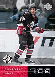 2000-01 Upper Deck Ice #63 J-P Dumont