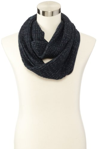 John Varvatos Men'S Mixed Knit Infinity Scarves, Eclipse/Dark Forest, One Size