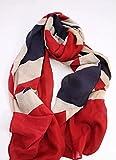 【Tiara】 大判 ストール アメリカ 国旗 星条旗 イギリス 英国 (イギリス国旗柄) …