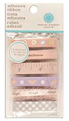 Martha Stewart Crafts Adhesive Ribbon Tape Girl Pink/Purple By The Package