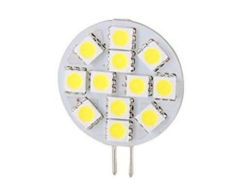 How Nice Dc12V 2.4W 12 5050 Smd Leds G4 Smd 60-70Lm 6000-6500K Cool White Light Led Bulb-Pack Of 5
