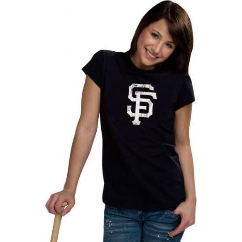 San Francisco Giants Womens Distressed Ink My Team Tee