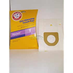 41Hlo o6RzL. SL500 AA280  Arm & Hammer Odor Eliminating Vacuum Bags, Hoover Type Y, 3 Pack. Comparable to Hoover 4010100Y Allergen Bags.