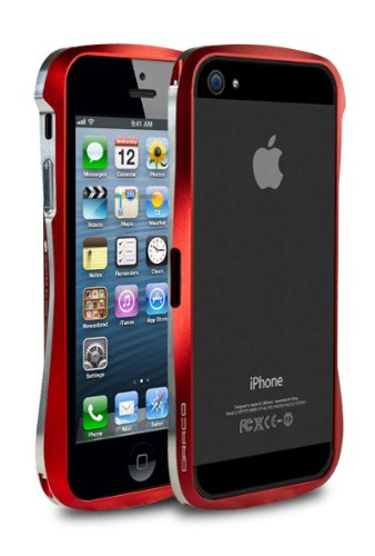 Great Sale Draco V Aluminum Bumper for iPhone 5 - Flare Red