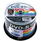 磁気研究所 HIDISC DVD-R データ用 16倍速 4.7GB ホワイトプリンタブル スピンドルケース 50枚 HDDR47JNP50