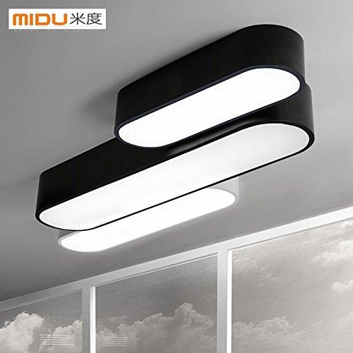 bgmdjcf-led-luce-di-soffitto-1-campo-lungo-nero-luce-18w-65cm-creative