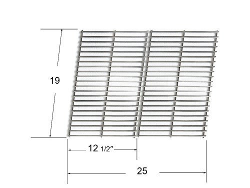 66662 (Set of 2) Stainless Steel Cooking Grid (For Bakers and Chefs, BBQ (Barbecues) Galore, Brinkmann, Broil-mate, Charbroil, Capt'n Cook, Charmglow, Grand Hall, Grill Chef, Grill Mate, Grillpro, Members Mark, Sams Club, Sterling & Turbo Gas Grill Models) (Grand Hall Bbq compare prices)