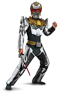 Disguise Power Rangers Megaforce Robo Knight Boy's Muscle Costume, 7-8