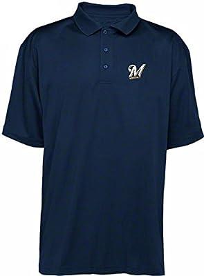 Milwaukee Brewers MLB Majestic Dri Fit Navy Polo Golf Shirt Big & Tall Sizes