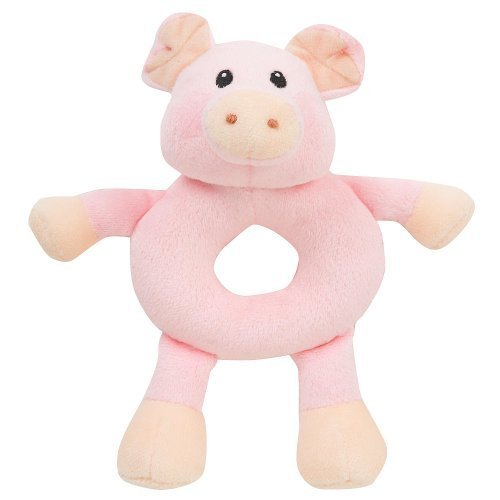 Babies R Us Plush Farm Animal Rattles - Pig - 1