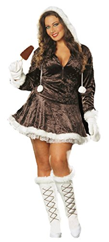 Dreamgirl Womens Eskimo Cutie Zipper Front Outfit Fancy Dress Sexy Costume