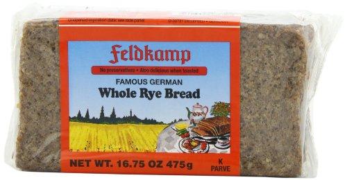 Feldkamp Whole Rye Bread , 16.75-Ounce Vacuum Packs (Pack of 12)