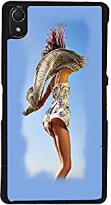 PrintVisa D7815 Hot Girl Case Cover for Sony Xperia Z2 (Multicolour)