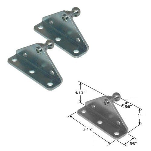 10MM Ball Stud Bracket for Gas Spring/Prop/Strut (2 Pack) from Gordon Glass Co.