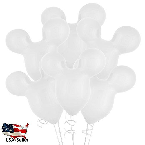 """30PCS WHITE 15"""" Mickey Mouse Latex Balloons Wedding / Birthday Party Decoration USA SELLER(Jarty Party Brand)"""