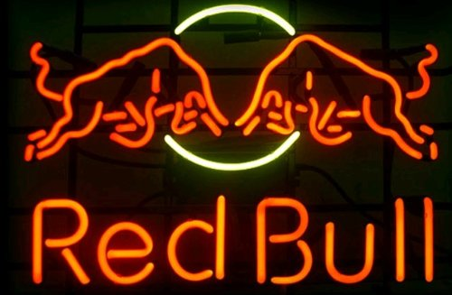 "New Red Bull Energy Soda Drink Neon Light Sign Home Beer Bar Pub Recreation Room Game Room Windows Garage Wall Sign 17w""x 14""h"