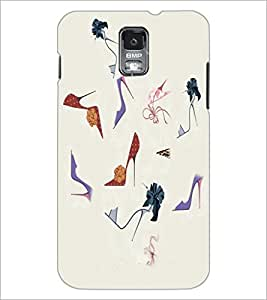 PrintDhaba Sandals D-2643 Back Case Cover for SAMSUNG GALAXY S5 (Multi-Coloured)