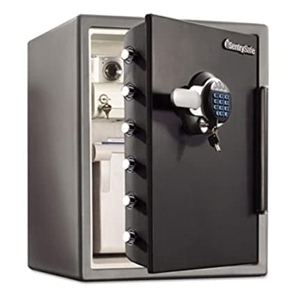 Sentry Safe SFW205GRC Electronic Water-Resistant Fire-Safe, 2.05 ft3, 19 3/10 x 19 3/8 x 23 7/8, Black (SENSFW205GRC)